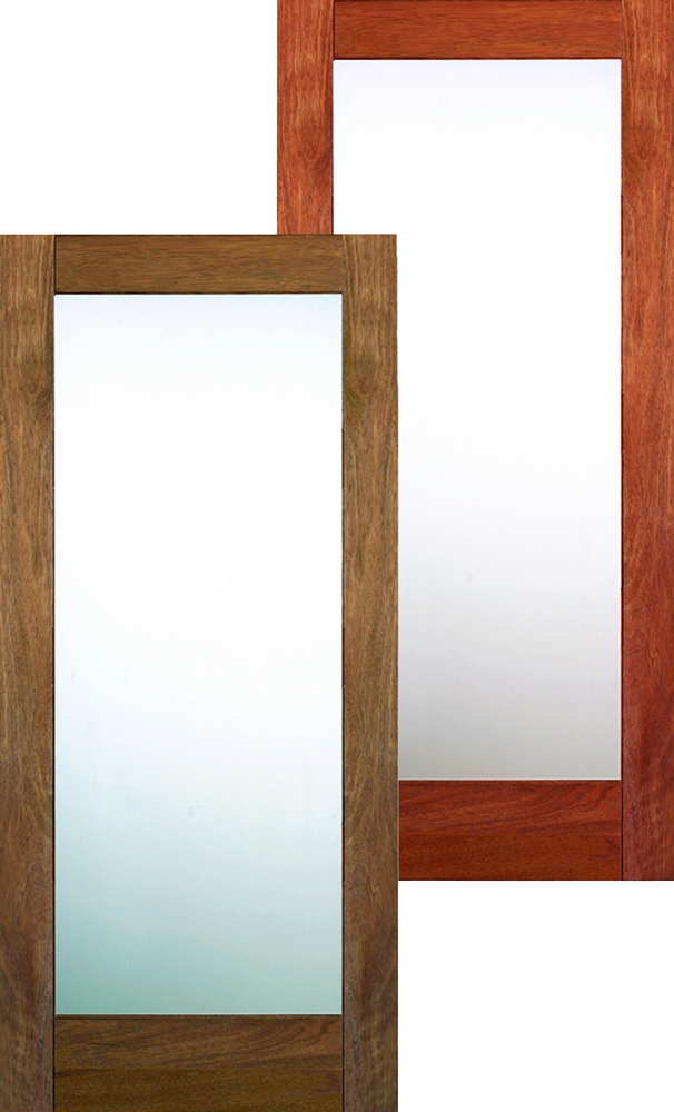 INTERIOR DOOR / MATTE GLASS 80u2033 HEIGHT SHAKER STYLE UNFINISHED MAHOGANY $123