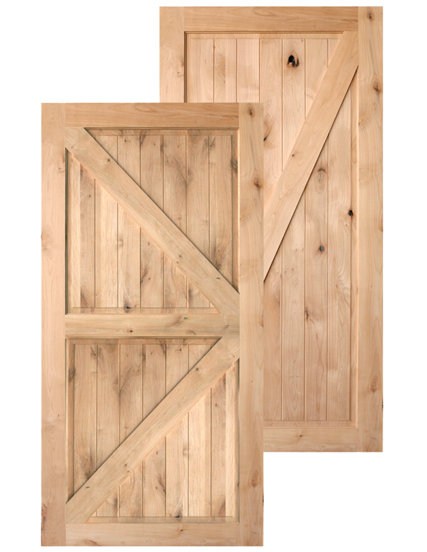 Traditional Barn Doors In Knotty Alder 36 X 84 250 And 42 265